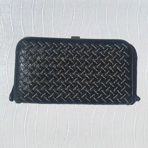 Bottega Veneta wallet with metal clasp